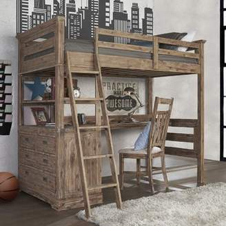 LOFT Viv + Rae Bryon Industrial Twin Bed with 4 Drawer Chest