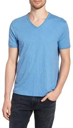 John Varvatos Slim Fit Slubbed V-Neck T-Shirt