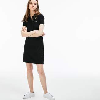 Lacoste Women's Stretch Cotton Mini Pique Polo Dress