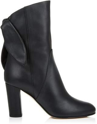 Jimmy Choo Malene 85 Leather Bow Boots
