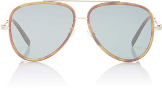 Alexander McQueen Aviator-Style Tortiseshell Acetate And Gold-Tone Sunglasses