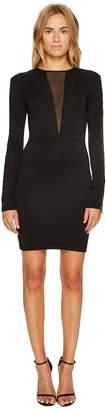 Just Cavalli Jersey V Mesh Long Sleeve Dress Women's Dress