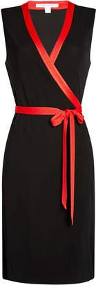 Diane von Furstenberg Sleeveless Colorblock Wrap Dress