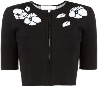 Carolina Herrera floral zipped cardigan