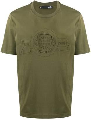 Love Moschino logo embossed T-shirt