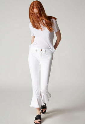 Blank NYC Ruffle Hem Skinny Jean