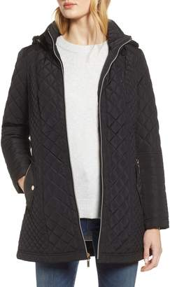 Gallery Fitted Quilted Hooded Jacket