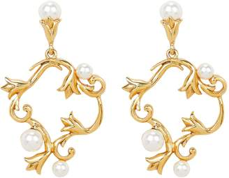 Oscar de la Renta Pearl Tulip Stud Earrings