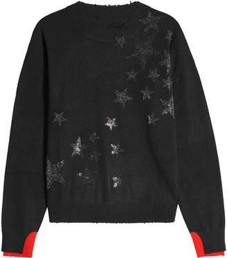 Zadig & Voltaire Cashmere Pullover with Glitter Stars