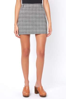 BB Dakota Everything Nice Plaid Mini Skirt