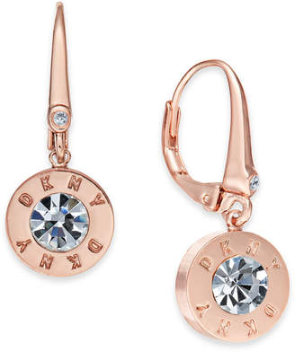 DKNY Crystal Logo Drop Earrings