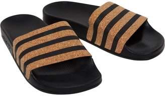 4821e8659f68 adidas Womens adilette Slides Core Black Core Black Black