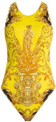 Versace Femme Baroque Open-Back Chain Bodysuit