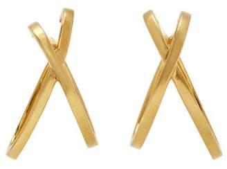Alan Crocetti - Space Gold Plated Silver Ear Cuffs - Womens - Gold