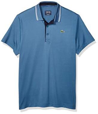 Lacoste Men's Sport Short Sleeve Jersey Polo W/Contrast Piping