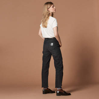 Sandro High-waisted straight-cut jeans