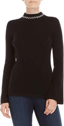 Qi Jewel Neck Sweater