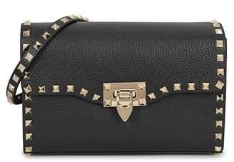 Valentino Rockstud Small Black Leather Shoulder Bag