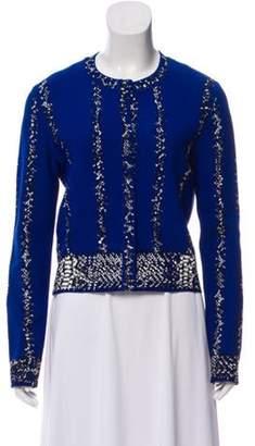 Alexander McQueen Jacquard Knit Cardigan Blue Jacquard Knit Cardigan