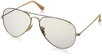Ray-Ban Men's Aviator Large Metal Sunglasses