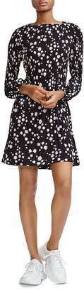 Maje Rockiz Pleated Daisy Print Dress