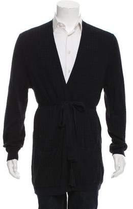 Dries Van Noten Woven Tie-Close Kimono