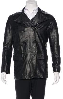 Helmut Lang 1997 Double-Breasted Leather Jacket