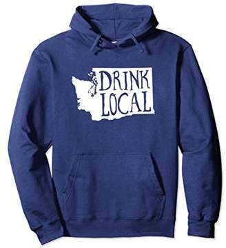 Drink Local Washington State Outline Craft Beer Sweatshirt