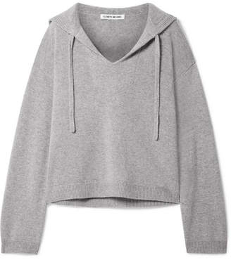 Elizabeth and James Margot Oversized Cashmere Hooded Top - Gray