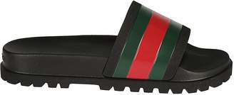 Gucci Ridged Sliders
