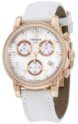 Tissot Dressport T0502173611201 Gold Tone Stainless Steel & Leather Quartz 35mm Womens Watch