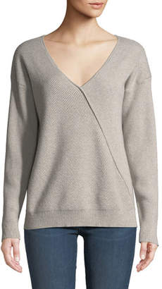 J Brand Loran Reversible Cashmere Pullover Sweater