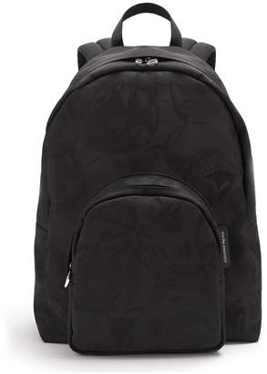 Alexander McQueen Skull camouflage-jacquard canvas backpack