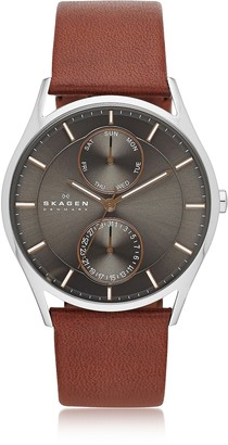 Skagen Holst Multifunction Leather Men's Watch