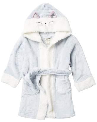 Petit Lem Kitty Hooded Robe (Toddler & Little Girls)
