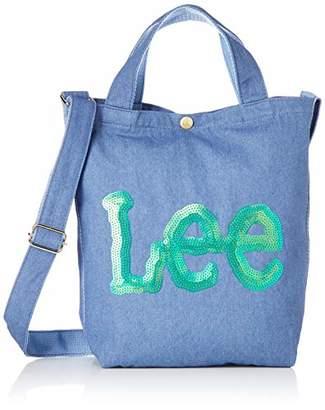 Lee (リー) - [リー] トートバッグ Leeロゴ キラキラ スパンコール刺繍 2WAY ショルダーバッグ ブルーデニム