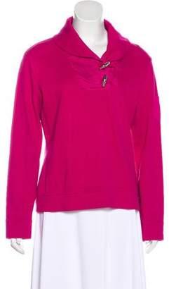 Lauren Ralph Lauren Shawl Collared Knit Sweater