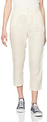 Benetton Women's Linen Chino Trouser,6 (Size:38)