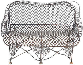 One Kings Lane Vintage Antique French Wire Bench
