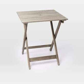 west elm Portside Outdoor Folding Bistro Table - Weathered Gray