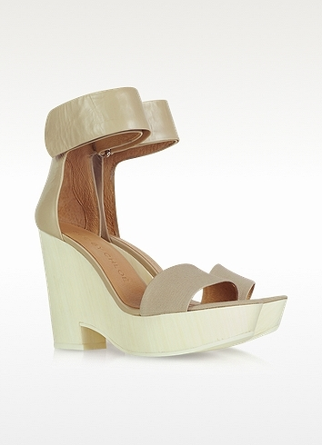 See by Chloe Leather and Canvas Wedge