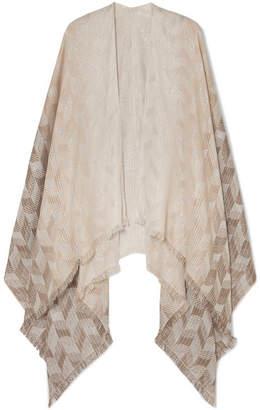 Missoni Frayed Metallic Cotton-blend Wrap - Beige