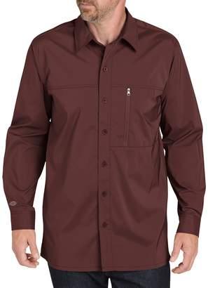 Dickies Men's Regular-Fit Zip-Pocket Moisture-Wicking Button-Down Work Shirt