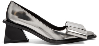 MARQUES'ALMEIDA Oversized-bow leather pumps