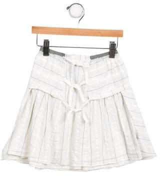 Ikks Girls' Striped A-Line Skirt