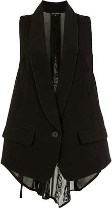 Ann Demeulemeester sheer back waistcoat