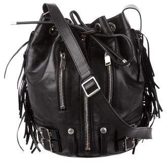 Saint Laurent Fringe-Accented Leather Crossbody