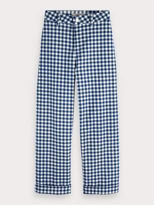 Scotch & Soda Wide Leg Gingham Trousers