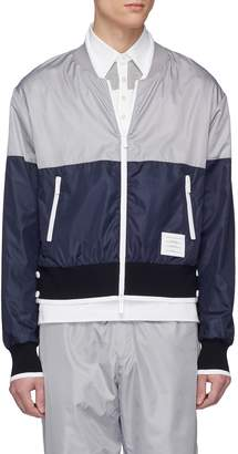 Thom Browne Colourblock ripstop bomber jacket