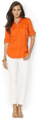Lauren Ralph Lauren Roll-Sleeved Linen Workshirt